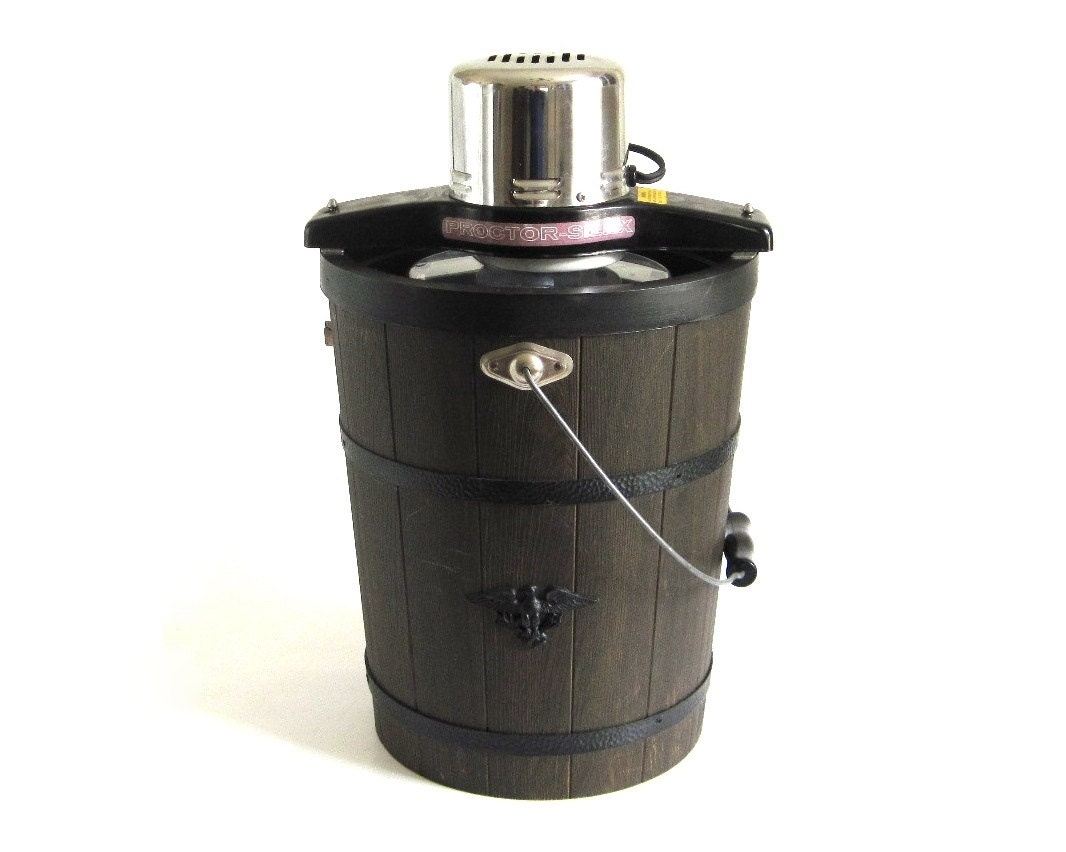 proctor silex ice cream maker freezer 6 qt wood look bucket. Black Bedroom Furniture Sets. Home Design Ideas