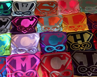 Kids Age 0-6yrs 1 SIDED BUNDLE SUPERHERO Party Pak of  Boys & Girls Single Sided  Super Hero Capes  for Birthday Party Gifts