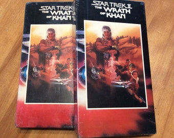 Star Trek II The Wrath of Khan VHS video tape vintage 1991 paramount home video sealed sci fi vcr movie by sunandpearl on etsy