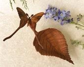 Luna Moth , hand carved wood art