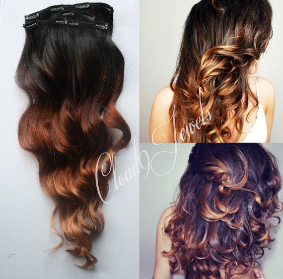 Natural ombre hair extensions human hair extensions colored like this item pmusecretfo Image collections