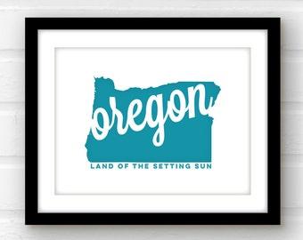 Oregon state wall art | Oregon art | Portland Oregon print | Salem, Oregon | Eugene, Oregon | Oregon print | Oregon poster