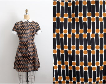 60s Pacemaker Jr Mini Dress / Fit and Flare Dress / Peter Pan Collar Dress / Size S/M