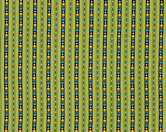 29018 Free Spirit Denyse Schmidt Ansonia - Kentucky Stripe in Mossy color PWDS061 -  1 yard