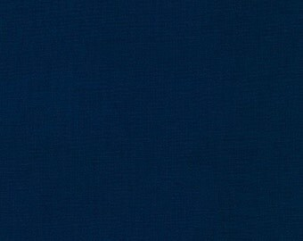 LAMINATED cotton fabric by the yard (similar to oilcloth) - Solid navy blue - WIDE - BPA free - Approved for children's products