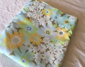 Reserved listing for Jo-Ann-Vintage double Flat Bedsheet-yellow, blue, lime green, white