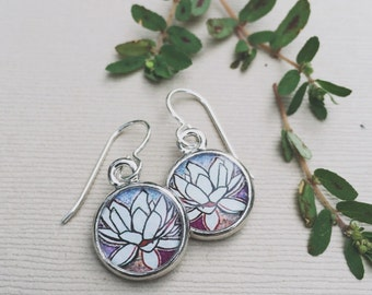 LOTUS JEWELRY purple earrings | Nature Earrings