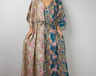 Boho Dress / Kaftan Summer Dress / Paisley Maxi Dress : Bohemian Kaftan Collection No.1