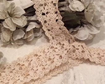 Vintage Ivory Crocheted Lace Camisole Top, Vintage Crocheted Nightgown Top, Vintage Cami Top