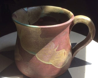 "3 1/2"" tall 12 oz OOAK pottery mug"