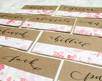 Custom Calligraphy Place cards / Table cards / Escort cards