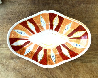 Vintage hand painted platter