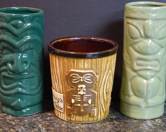 Trio of Tiki Mugs
