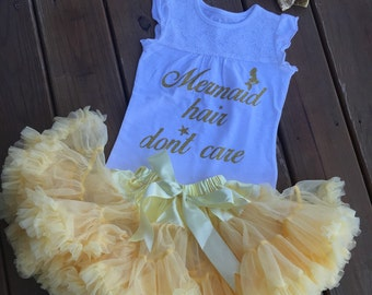 Mermaid hair dont care outfit!