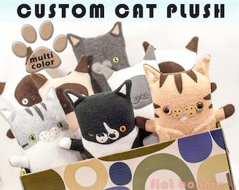 Custom Cat stuffed animal, Customized kitty plush, soft toy kitten pet clone, personalized custom pet memorial, cat lover keepsake gift