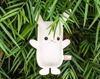 Tree ornament bunny, Cute animal bag charm, Luggage tag, Rabbit backpack charm, Christmas holiday decoration, Handmade gift, Flat Bonnie
