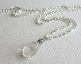 Quartz gemstone necklace - protection, healing