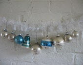 Vintage Christmas Ornaments - 9 - Silver Tone