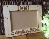 Gift for Dad - A Daughter's First Love holds a 4x6 photo Custom Wood Picture Frame Fathers Day Father Daughter Dance new father baby girl
