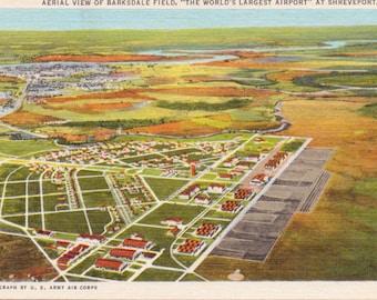 Shreveport, Louisiana, Barksdale Field, Airport - Linen Postcard - Unused (D)