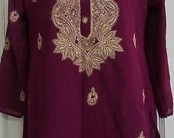 chest 34  embroided grogette  top
