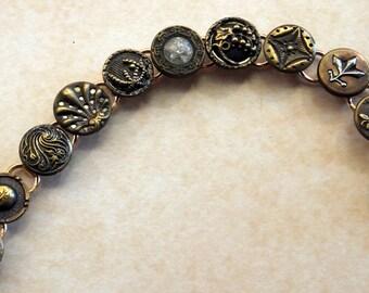 antique button bracelet