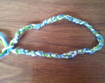 """3 strand crochet friendship bracelet 6.5"""""""