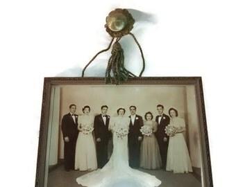 Valentine SALE Art Deco Frame , Decorative Picture Hanger , Wedding Photo , 1930s