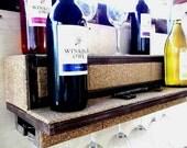 Wine Shelf...Glass Holder..Display Shelf...Floating Shelf...24 Inch or 36 Inch Lengths...FREE SHIPPING