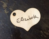 3 Heart Name Tags