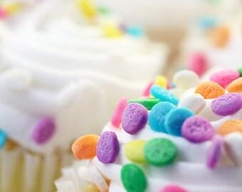 Vanilla Cupcake Fine Art Print, Cupcake Photograph, Nursery Art, Cupcake Home Decor, Cupcake Wall Art, Cupcake Art, Kitchen Photo
