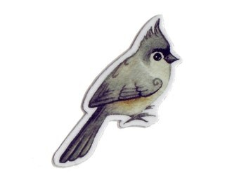 Tufted Titmouse Bird Magnet / Nature Art / Refrigerator Magnet / Office Magnet / Party Favor / Small Gift