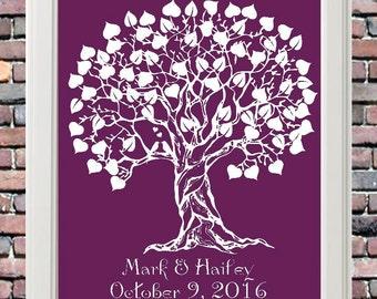 Signature Heart Wedding Tree Guestbook Alternative - Rustic Wedding Sign - Modern Keepsake - Ready to Hang -lovebirdslane