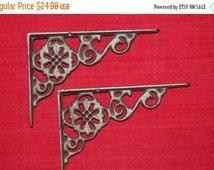 "ON SALE 4pcs), 6 1/2"" Cast Iron decorative shelf brackets, free shipping, small decorative rustic shelf brackets, corbels ,cast iron, B-11"