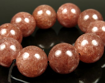 Russian Muscovite Round Beads - 12mm - 10 Pieces - B5694