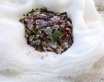 Tub tea herbal bath soak salts mineral bath xl size