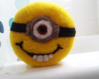Minion Felted Soap