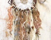 Brown and Cream Shabby Dreamcatcher/Wall Hanging
