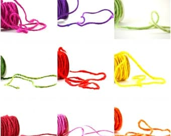 Cord Felted Wool Thick Yarn Carded 10yds