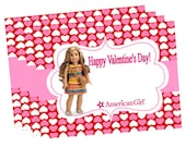 AMERICAN GIRL DOLL of the year 2016 Lea  Happy Valentine's Day Printable Instant Download Valentines School