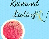 Reserved listing for Sally