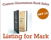 Custom Listing for Mark - Groomsmen Book Safe - Set of 14 - Best Man Wedding personalized gift with your own message inside FREE SHIPPING