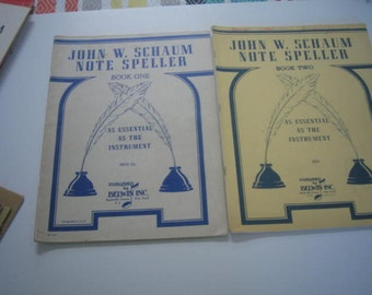 John W. Schaum Note Speller Book One and Book Two... Vintage