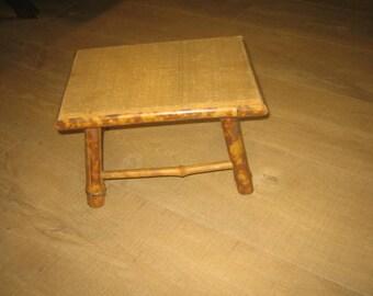 Vintage Bamboo Child's Stool