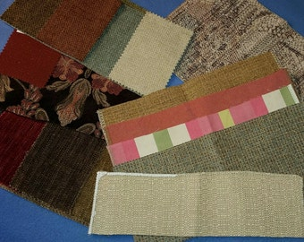 Upholstery Fabric Sample Scrap Pack, 8 oz tapestry samples swatches - no. 2