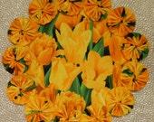 Yellow Tulip Doily