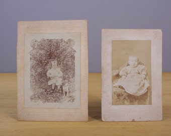 2 Antique Photographs of Children