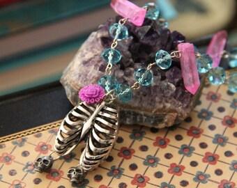 Girl Bones Beaded Necklace
