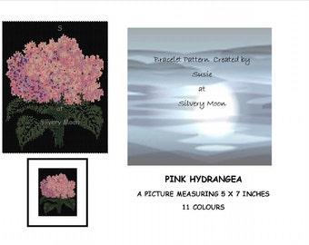 Pink Hydrangea - Beaded Art - Even Count