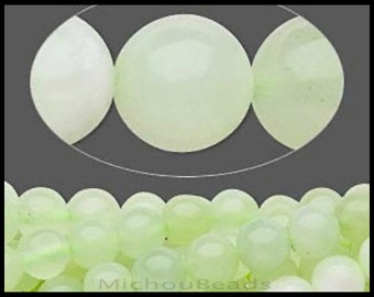 25 SEA Green new JADE 4mm Round - C Grade Natural Sea Green New Jade Round Stone Bead - USA Wholesale Beads -  Instant Ship  - 5286